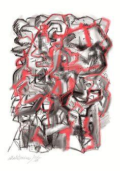 """LA PIEDRA ROJA // En la antigua ciudad la """"piedra roja""""/ tenía calaveras de mampuestos/ con sangre coagulada de argamasa/ y a los indígenas servía de amuleto.—> https://albertotroconiz.blogspot.com.es/2018/02/piedra-roja.html"""
