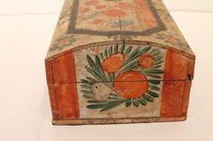 19th Century Pennsylvania Painted Dome Top Box image 4