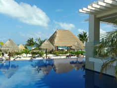 Pool or Beach?! have both!   The Beloved Hotel Playa Mujeres Mexico