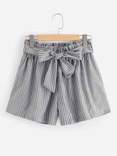 Shop Plus Self Tie Waist Striped Shorts online. SHEIN offers Plus Self Tie Waist Striped Shorts & more to fit your fashionable needs. Plus Size Dresses, Plus Size Outfits, Short Dresses, Plus Size Womens Clothing, Plus Size Fashion, Clothes For Women, Plus Size Shorts, House Dress, Young Models
