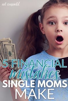 Nearly 50% of single moms find themselves living below the national poverty line. Usually, we shake our fists at the injustice, but the truth is... some of this is in our control. We make a lot of bad financial decisions out of desperation. Come read 5 financial mistakes that you simply have to STOP making! (P.S. Married moms might learn a thing or two as well!)