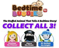 Bedtime Buddies Stuffed Animal Tells Bedtime Stories, ships to Canada #bedtimebuddies #plushtoy