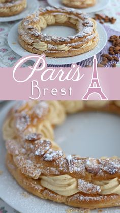 French Sweets, French Dessert Recipes, French Pastries, Fun Baking Recipes, Pastry Recipes, Sweet Recipes, Cooking Recipes, Bicycle Wheel, Bicycle Art