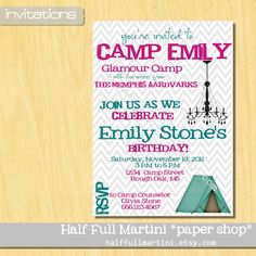 @Lori Lowery.  Can you give me a quote for a designed by you camping invite?  Only need 4-5!  I like this design, but I know you can do better!