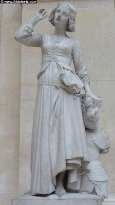 Jeanne d'Arc écoutant ses voix (listening to her voices), by François RUDE, 1845. Louvre, Paris