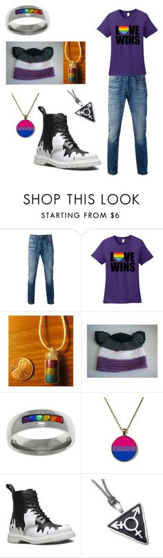 """LGBTQI*"" by ashe-hominem ❤ liked on Polyvore featuring Levi's, Carolina Glamour Collection and Dr. Martens"