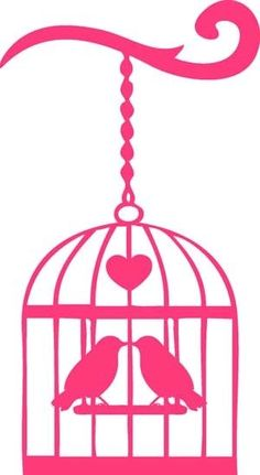 Birds in cage image silhouette, find more Love Pictures on LoveIMGs. LoveIMGs is a free Images Pinboard for people to share love images. Silhouette Cameo, Silhouette Portrait, Silhouette Projects, Silhouette Design, Free Silhouette, Stencil Patterns, Stencil Designs, Stencils, Flora Und Fauna