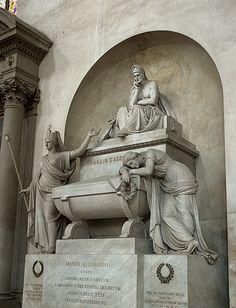 Dante's Tomb - Santa Croce Church - Florence Italy