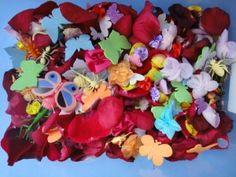 flower petals sensory tub