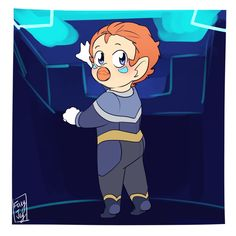 """foxyjoy-art: """"so if Coran keeps getting younger in that void, do we get to see small bab Coran?? X """""""