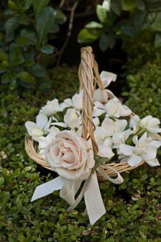 Cestino per le gardenie #matrimonio