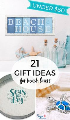 Beach Lover Gifts: One of the joys of giving a gift is finding something that someone will truly love! It's such an amazing feeling when you watch someone open your coastal gift. Goft Ideas, Beach Theme Bathroom, Next Gifts, Beach Gifts, Beach Themes, Gift For Lover, Hostess Gifts, Cute Gifts, Birthday Gifts