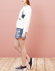 Sweatshirt with patch detail