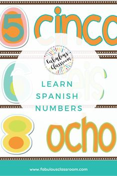 Basic lesson for teaching Spanish numbers to children. Includes song, printables, and more. Spanish Teaching Resources, Spanish Activities, Spanish Language Learning, Homeschooling Resources, Middle School Spanish, Elementary Spanish, Spanish Lesson Plans, Spanish Lessons, Spanish Numbers