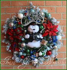 MADE TO ORDER Sam the Snowman Large Christmas by IrishGirlsWreaths