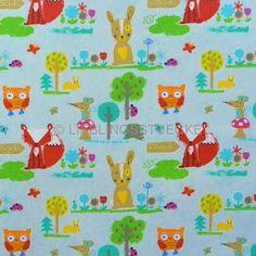 Lieblingsstücke: Fuchs und Hase auf blau, Webstoff,...6,90