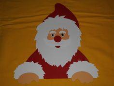 Fensterbild Tonkarton Winter Fenstergucker Nikolaus Weihnachtsmann Deko NEU :) 2