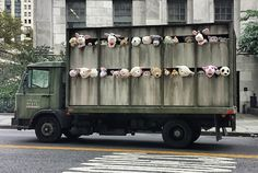 """Sirens of the Lambs"" A slaughterhouse delivery truck touring the meatpacking district and then citywide for two weeks."