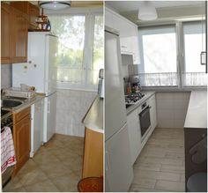 Metamorfoza kuchni w bloku Kitchen Island, Kitchen Cabinets, Flat, Home Decor, Living Room, Island Kitchen, Bass, Decoration Home, Room Decor