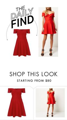 """""""The Daily Find: River Island Skater Dress"""" by polyvore-editorial ❤ liked on Polyvore featuring River Island, women's clothing, women, female, woman, misses, juniors and DailyFind"""