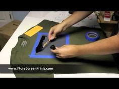 ▶ AMAZINGLY Simple way to Screen Print at Home! - YouTube