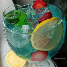 ▃▃▃▃▃▃▃▃▃▃▃▃▃▃▃▃▃▃▃▃ CURACAO SANGRIA  8 oz. (240 ml) Blue raspberry beat box beverages 1/2 oz. (15 ml) Blueberry rum 1/2 oz. (15 ml) Blue curacao 1/2 oz. Triple Sec  1/2 oz. (15 ml) Lime juice 1/2 oz. (15 ml) Sour mix Ice shake 1 shot glass of Sour Apple vodka Garnish Lemon and strawberry slices.  Instagram Photo Credit : @six8bartends  Post your original recipe and photo on Instagram using #TipsyBartender and we will repost the best ones. Each month, the pics with most likes wins $300, 2nd…