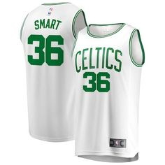 4d7b3ef1d9d Marcus Smart Boston Celtics Fanatics Branded Fast Break Replica Jersey -  Association Edition - White