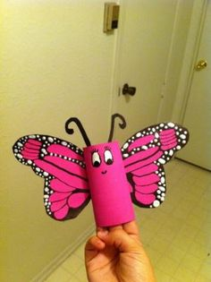 Toilet Paper Roll Butterfly by esperanza