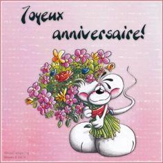 Joyeux anniversaire! #anniversaire joyeux anniversaire diddl bouquet fleurs