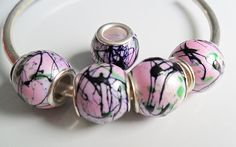 1 Bead Large Hole  to fit European Jewelry  B102 by adawnstyle, $1.00