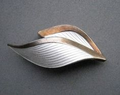 Beautiful midcentury silver and enamel brooch by Albert Scharning, Norway.