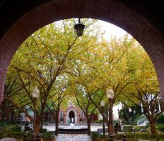 Archway of Healy Hall, Georgetown University, Washington DC Fall 2011