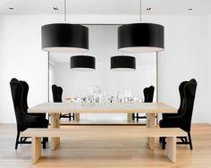 modern dining room by Nicole Hollis