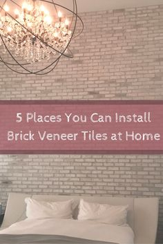 Discover some of the exciting places you can install brick veneer in your home. #mortonstones #brickwall #rustic #modernhome #decor #interiordesign #interior #homeideas #brickveneers #accentwall