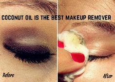Best for eyes makeup....the makeup disappears in one glide itself....and coconut oil is also good for the lashes