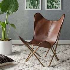 Simplicity is often the greatest provider and this minimalist designed chair need not stray from its classic design. The classic leather butterfly chair, the signature piece, is made one at a time, hand cut, and sewn with a coarse, heavy-duty thread. Tailored to fit the frame. Comfortable and chic, chair is the perfect way to relax in style.