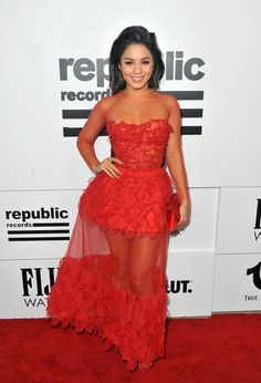 Vanessa Hudgens attends the VMA after party.