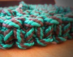 Vodítko-zelenočierne pletené