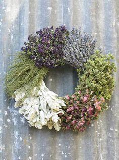 herb wreath, making me look twice