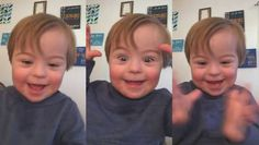 A two-year-old boy with Down syndrome recently learned to recite the full alphabet, a huge milestone for the young boy.