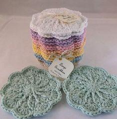 Cotton face cloth, wash cloth, Large scrubbie, Face scrubbies - 100% Cotton, textured face scrubbies, crochet scrubbies, makeup remover pads Crochet Faces, Knit Or Crochet, Crochet Gifts, Free Crochet, Crotchet, Crochet Vintage, Crochet Scrubbies, Confection Au Crochet, Makeup Remover Pads