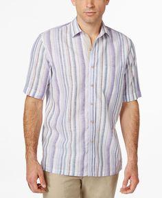 Tasso Elba Island Stripe Shirt, Only at Macy's