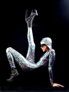 The Original Joysuit: Silver Holographic Bodysuit From Mars, Delivered Straight to Your Earth Home from AliciaZenobia on Etsy. Saved to Silver. Mode Disco, Holographic Bodysuit, Earth Homes, Studio 54, High Fashion, Metal Fashion, Fit Women, Fashion Photography, Dress Up