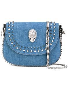 PHILIPP PLEIN . #philippplein #bags #shoulder bags #leather #stone #polyester #cotton #