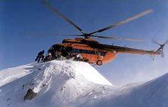 Heavy Heli-skiing.    Mi-17