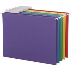 Smead Colored Hanging File Folders 1/3 Tab Letter Asst Colors 25ct