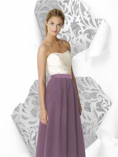 bridesmaid dress purple white....love if length was shorter.
