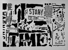 """I designed this as part of my line of stencils at StencilGirl Products.Story Timemeasures9"""" x 12"""" and is filled edge to edge with stencil goodness. Made using a 7 mil mylar, heat resistant film, this stencil can be used over and over again. The designs are perfect for mixed media art and journaling. The many sections of the stencils lend themselves to layering."""