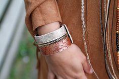 Armband Rits Goud/ Bruin