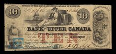 Canada, Bank of Upper Canada (York), 10 dollars : January 1857 January 7, Savings Plan, Old Coins, Flow, Vintage World Maps, Stamps, British, Mint, Museum